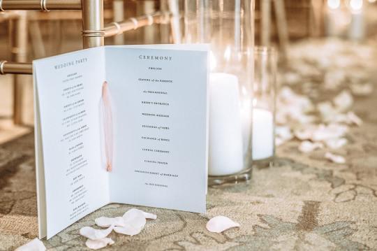 Easy, Simple Wedding Programs | FREE DIY Wedding Programs Printable