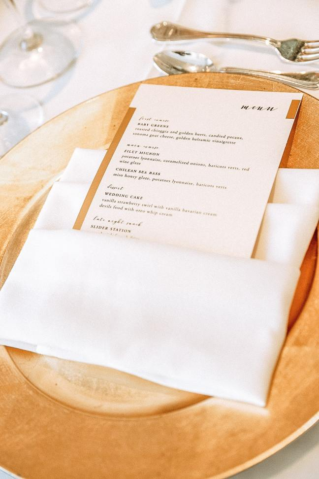 FREE DIY Wedding Menu Printable